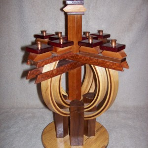 4-SIDED HALF ROUND MENORAH