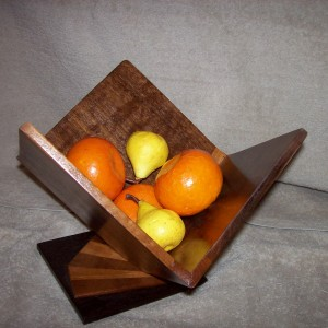 Wood Fruit Bowl