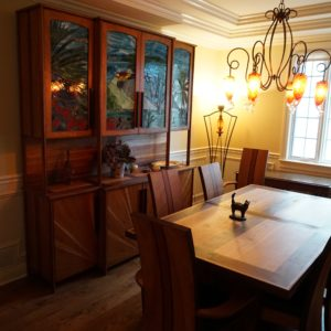Custom China Cabinet, Dining Table & Chairs