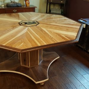 Custom Octagon Card Wood Table