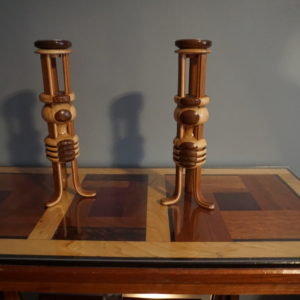 EPIC Art Deco Candleholders